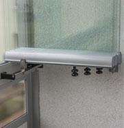Frameless enclosure with open panel lock