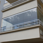 frameless system balcony enclosures